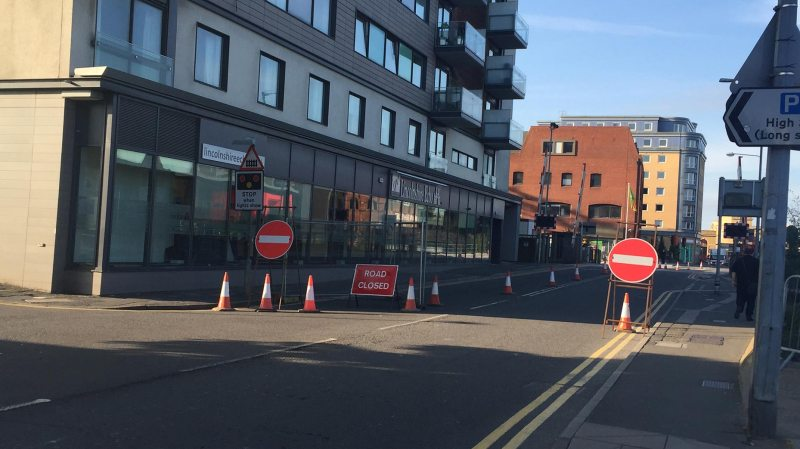 The lane was closed along with the opening of the city's new £22 million East West Link road.