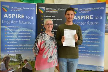 Students celebrating A Level results at Spalding High School