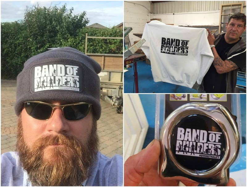 The Band of Builders clothing range is now for sale on the new website.