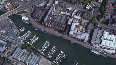 Brayford Pool. Photo: Google Earth