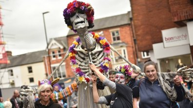 Last year, Lincoln hosted a special Day of the Dead parade through the streets. Photo: Steve Smailes for The Lincolnite