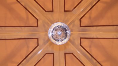A lone disco ball in the main hall. A reminder of past events and functions. Photo: Emily Norton for The Lincolnite