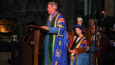 BGU's Vice Chancellor, the Reverend Canon Professor Peter Neil