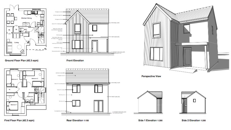 Designs for the new properties.