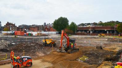 The Transport Hub is expected to be completed by 2018. Photo: Sarah Barker for The Lincolnite