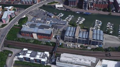 The University of Lincoln Brayford Campus. Photo: Google Earth