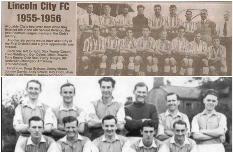 Don pictured in newspaper clippings. Top picture - third from left on back row. Bottom picture - Second from right on bottom row.