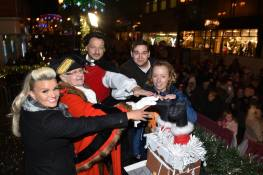 The lights were turned on by special guests including Kerry Katona, Mayor of Lincoln Councillor Yvonne Bodger and Lincoln Paralympian Sophie Wells. Photo: Steve Smailes for The Lincolnite