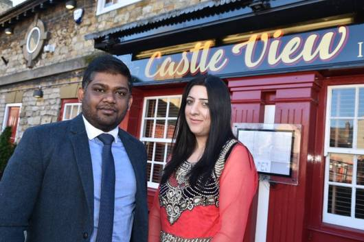 Aminur Rahman, owner of Castle View with Samanya Ahmed. Photo: Steve Smailes for The Lincolnite