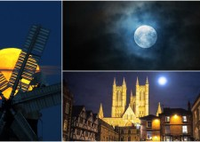 Stunning pictures of the supermoon over Lincoln.