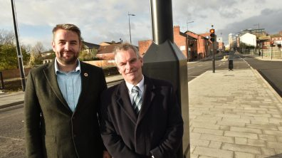 Councillor Richard Davies and Leader of Lincolnshire County Council Martin Hill. Photo: Steve Smailes for The Lincolnite