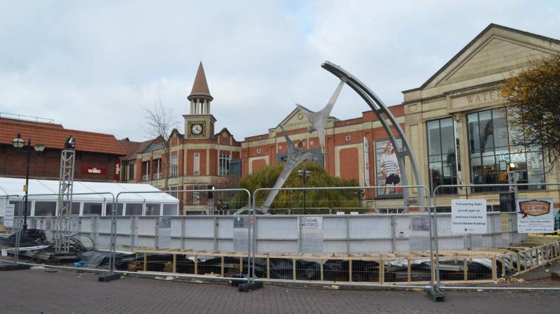 Just two days to go until the Lincoln Ice Rink is opened. Photo: The Lincolnite
