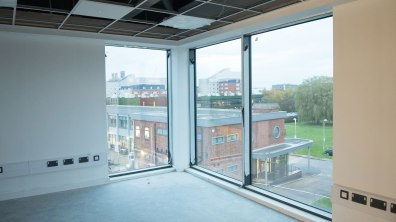This office even include a cathedral view. Photo: Steve Smailes for The Lincolnite