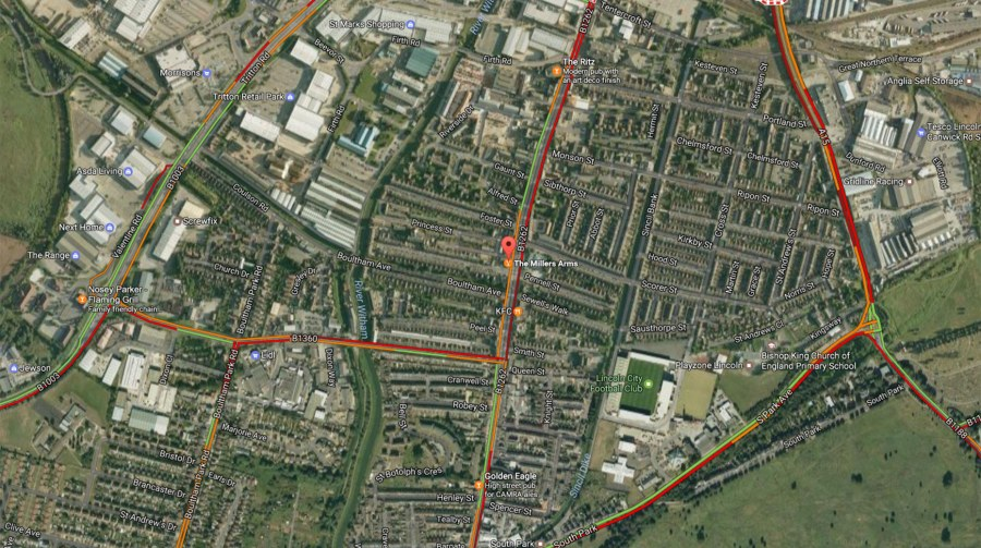 There are delays in the High Street area after the man came off his motorbike. Photo: Google