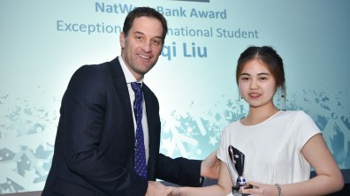 Winner of Exceptional International Student, Meiji Liu. Photo: Steve Smailes for The Lincolnite