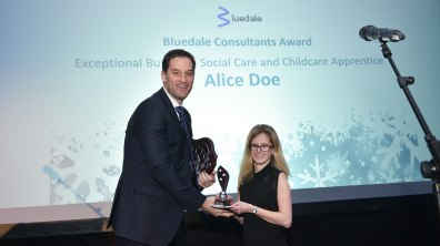 Winner of Exceptional Business, Social Care and Childcare Apprentice, Alice Doe. Photo: Steve Smailes for The Lincolnite