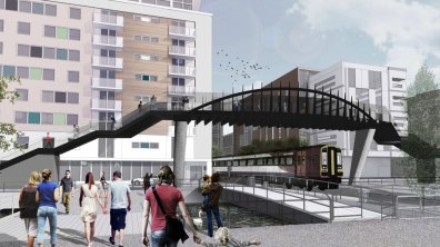 How the new footbridge will look like. Designs by Stem Architects