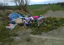 The rubbish was dumped on the side of the road in March. Photo: NKDC