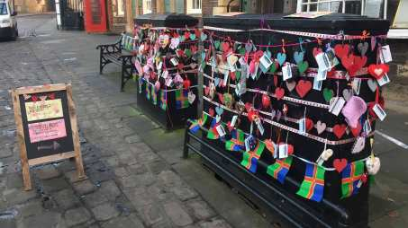 With Love From Lincolnshire is giving people a Valentine's Day surprise from free decorations. Photo: The Lincolnite