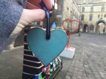 Everyone who receives a free heart is asked to post it to media with the hashtag #WithLoveFromLincolnshire