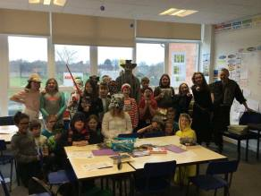 Ermine Primary pupils getting into the spirit for World Book Day