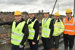 Developers met on Wednesday,March 29 for a special 'topping out' ceremony. Photo: Steve Smailes for The Lincolnite