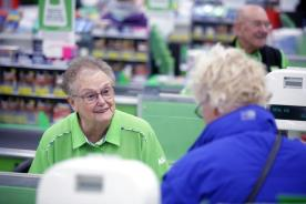 Mary Wilkins works the checkouts at Asda in North Hykeham