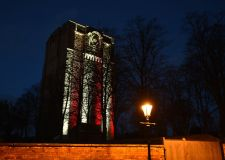 Water tower display to support premature babies