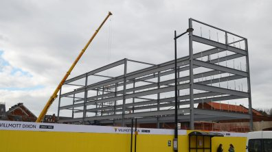 The finished multi-story car park will have 1,000 spaces. Photo: Jamie Waller