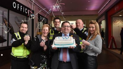 Staff celebrating Waterside's 25th birthday. Photo: Steve Smailes for The Lincolnite