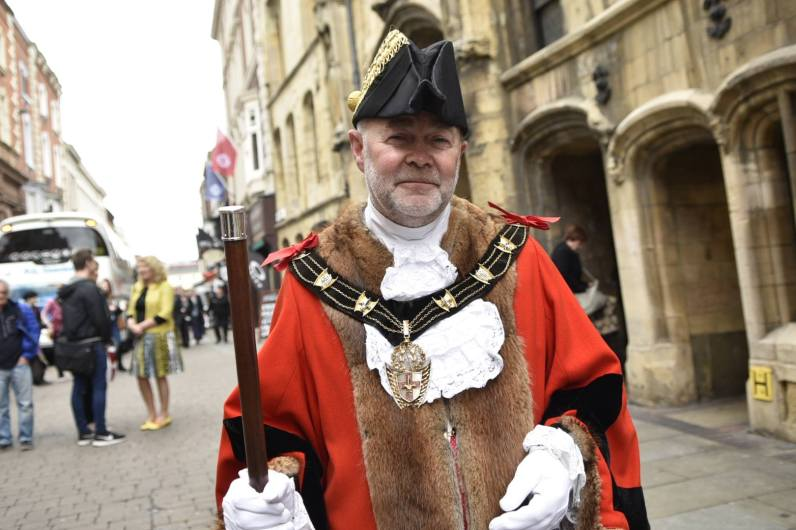 The new Mayor of Lincoln Councillor Chris Burke. Photo: Steve Smailes for The Lincolnite