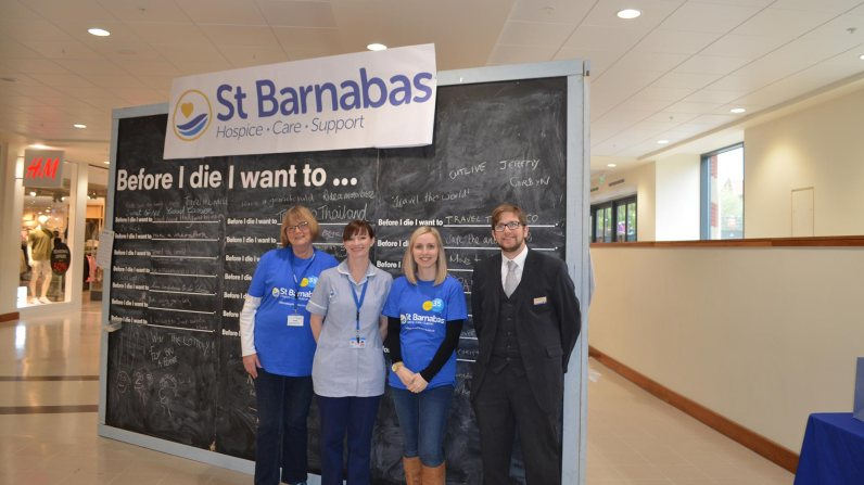 St Barnabas volunteers and staff. (L-R) Sheila Nash, Sarah Carr, Cat Maddy and Mathew Golding.