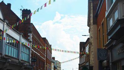 Bunting on High Street. Photo: Evie Stevenson for The Lincolnite