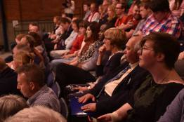 Kate Taylor in the debate audience (close, right). Photo: Steve Smailes for The Lincolnite