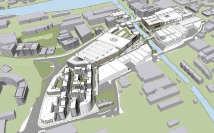 An aerial view of the proposals