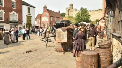 Many of the extras responded to a local casting call. Photo: Steve Smailes for The Lincolnite