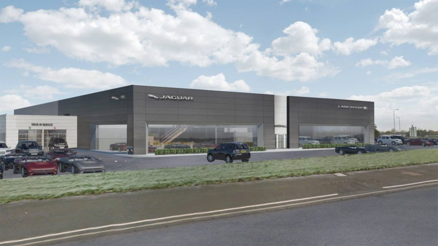 plans revealed for new jaguar land rover dealership. Black Bedroom Furniture Sets. Home Design Ideas