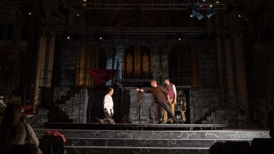 The last dress rehearsal took place at the cathedral on Monday, August 21