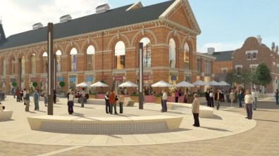 Artist's impression of what the Cornhill Quarter will look like once complete
