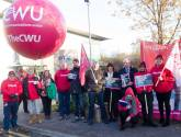 Protest held at Lincoln BT call centre over pay