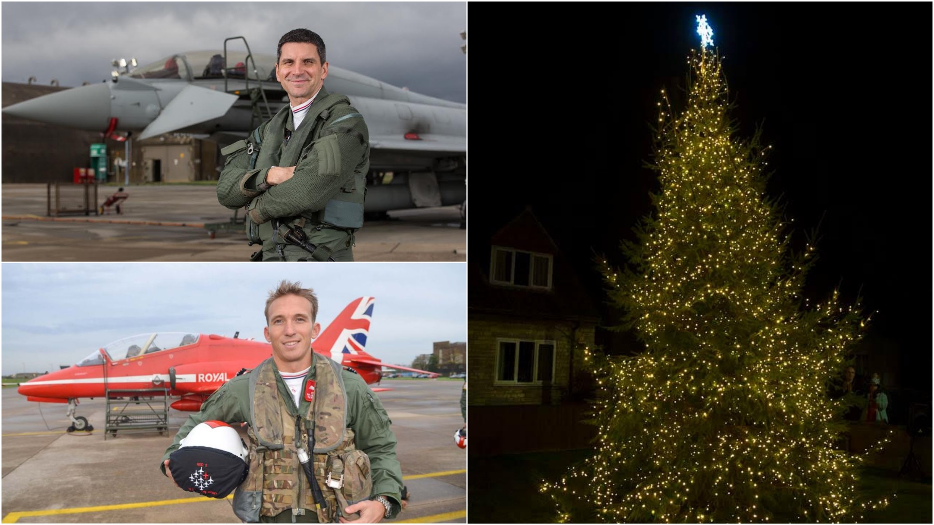 red arrow and typhoon pilots to switch on navenby christmas lights