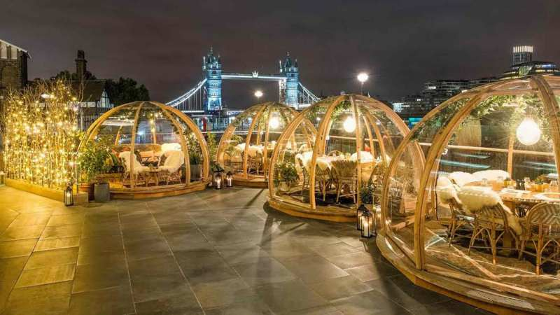 Dine Under The Stars In New Lincoln Rooftop Domes