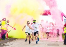 Lincoln inflatable colour dash back with a bang
