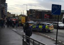 Cyclist and vehicle collide at Brayford Wharf