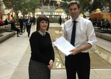 Karen Lee's RAF Scampton petition delivered to MOD