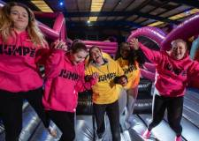 First jump at Lincoln's new trampoline park