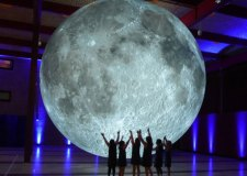 Out of this world! Giant moon landing in Lincoln