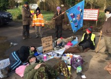 Four arrested after Lincoln fracking protest