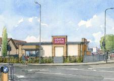 First Lincoln Costa Coffee drive-thru approved