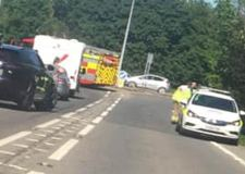 Woman seriously injured after A46 roundabout crash